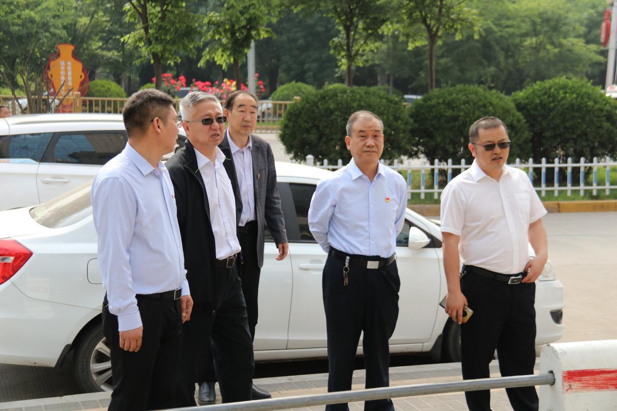 渑池县人大常委会对新华北路路面、沿线绿化带提升等工作进行调研